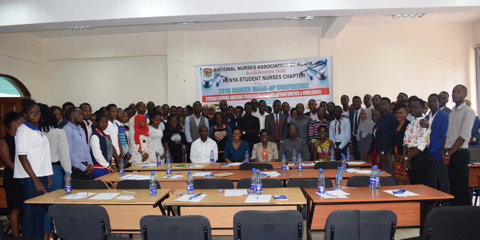 Kenya National Nurses Students Association KENNSA at the First Career Mash-up in Kenyatta University